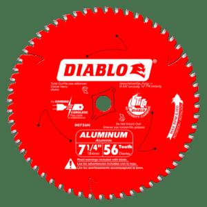 D0756N Diablo 56 Tooth Thick Aluminium Cutting Saw Blade