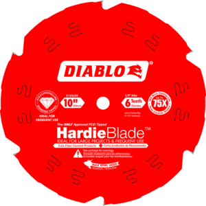 D1006DH Diablo Hardieblade 10 in x 9 tooth fiber cement