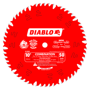 D1050X Diablo 10 in x 500 Tooth Combination Saw Blade