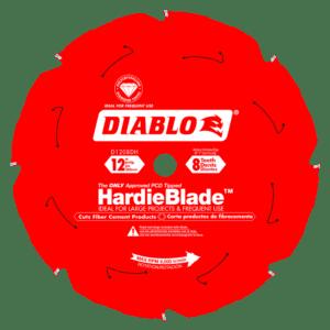D1208DH Diablo 12 in x 8 tooth fiber cement