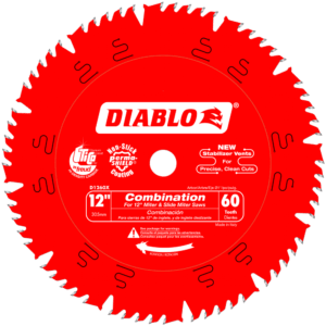 D1260X Diablo 12 in. x 60 tooth combination saw blade