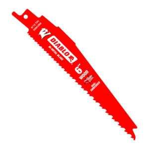 DIABLO 6 in. Bi-Metal Recip Blade for Nail Embadded Wood DS0612BW