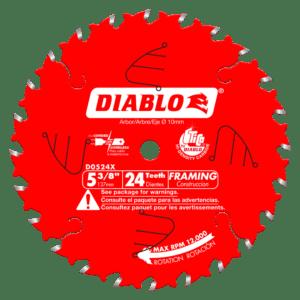 Diablo 24 Tooth Framing Trim Saw Blade ABM Distributing D0524X