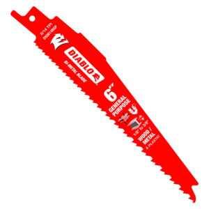 Diablo 6 in. Bi-Metal Recip Blade for Nail-Embedded Wood, Metal and Plastic