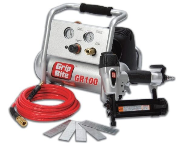 GRIP RITE Air Compressor Brand Nailer And Compressor Combo Kit GRTBK200